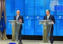 Eurogroup meeting, 05/11/2018, Press conference of Mr Pierre MOSCOVICI, European Commissioner for Economic and Financial Affairs, Taxation and Customs and Mr Mario CENTENO, President of the Eurogroup. © European Union, 2018
