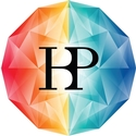 Logo showing a sphere with different colours and the letters HBP