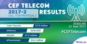 CEF Telecom Infographic showing the results of the evaluation