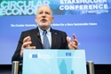 Frans Timmermans delivering his speech at the podium, 2019 Circular economy stakeholder conference © European Union, 2019