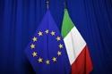 The national flag of Italy next to the European flag © European Union, 2019