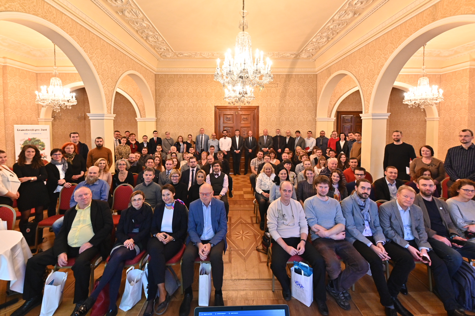 Photo of the participants of the annual meeting of the Czech Digital Skills and Jobs Coalition.