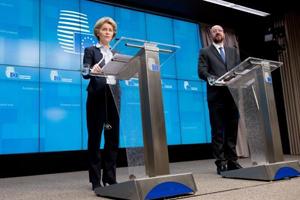Press conference of Ursula von der Leyen on COVID-19 © European Union, 2020