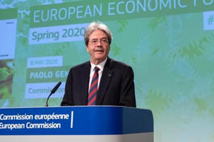 Press conference of Paolo Gentiloni, on the Spring economic forecast © European Union, 2020