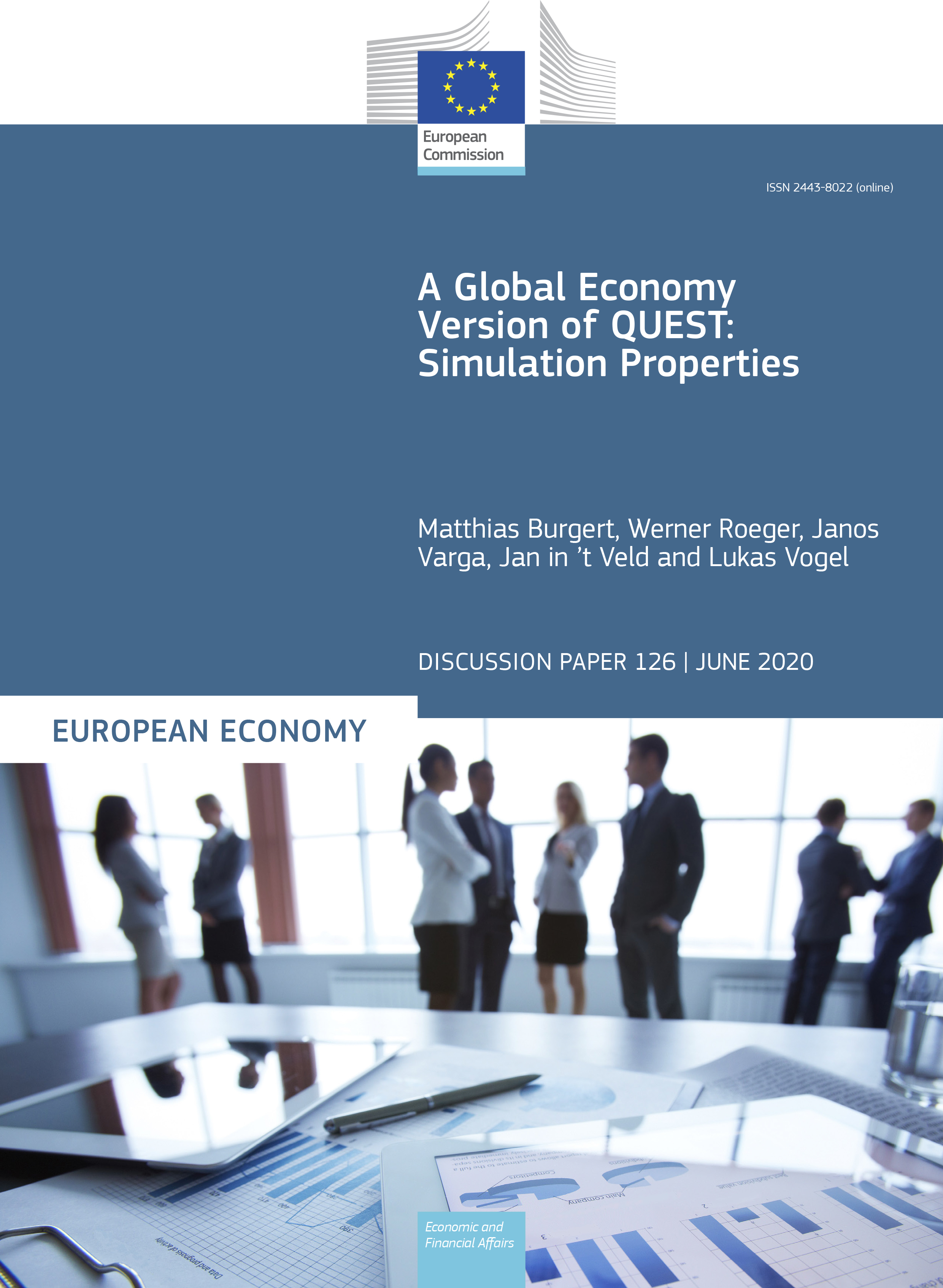 A Global Economy Version of QUEST: Simulation Properties