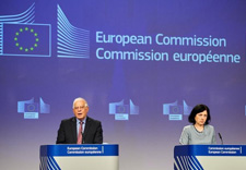 Press conference by Josep Borrell Fontelles and Vĕra Jourová, Vice-Presidents of the European Commission © European Union, 2020