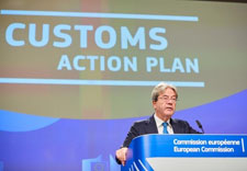 Press conference of Paolo Gentiloni, European Commissioner, on the Customs Union Action Plan © European Union, 2020