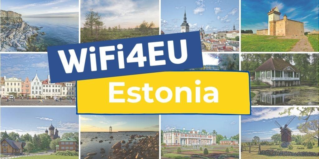 Landscapes of Estonia, WiFi4EU logo