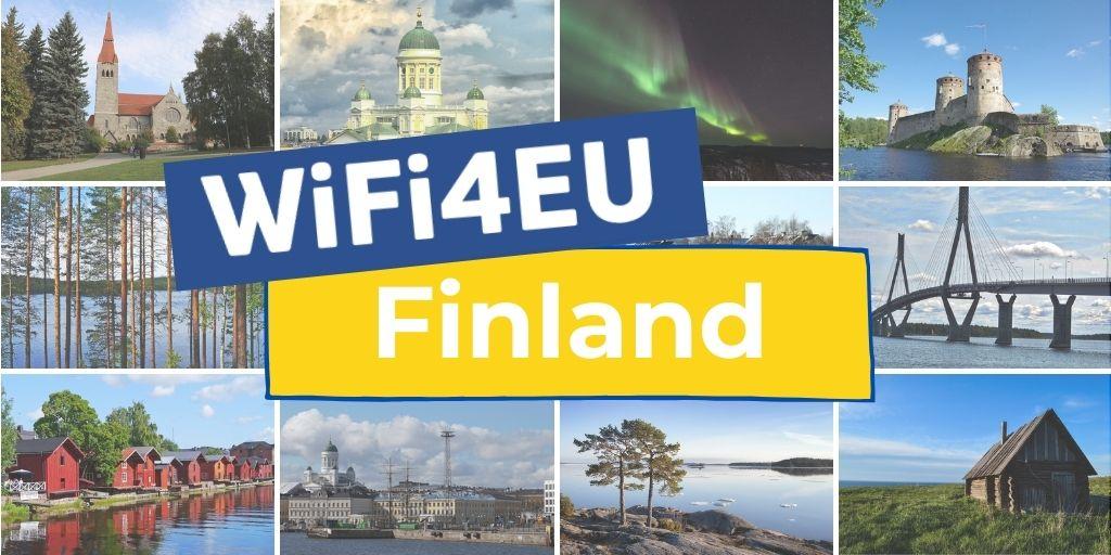 Landscape of Finland, WiFi4EU logo