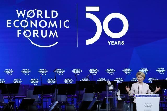 Ursula von der Leyen at the annual meeting of the World Economic Forum 2020 in Davos. © European Union, 2020