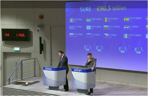 Screenshot of SURE announcement © European Union, 2020