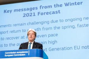 Press conference of Paolo Gentiloni on the Winter 2021 Economic Forecast © European Union, 2020