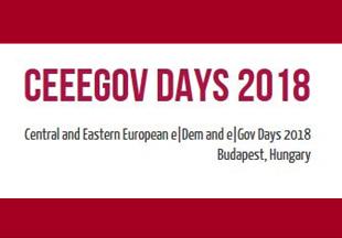 CEEEGOV Days 2018