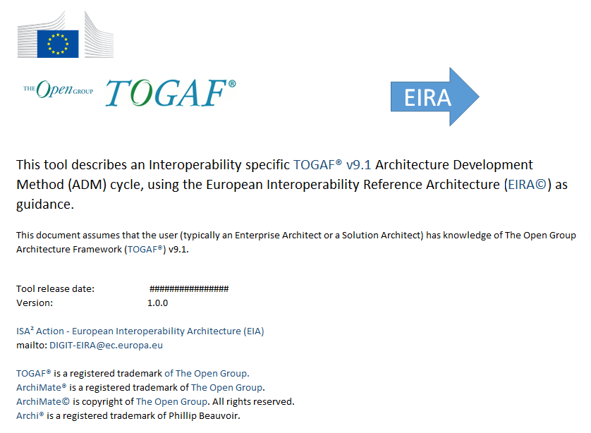 EIRA guidelines for the TOGAF interoperability ADM cycle
