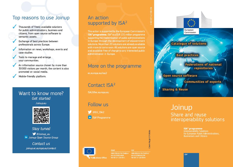 Joinup leaflet