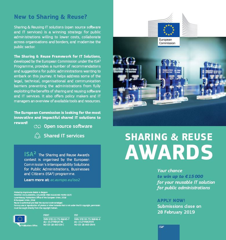 Sharing & Reuse Awards leaflet