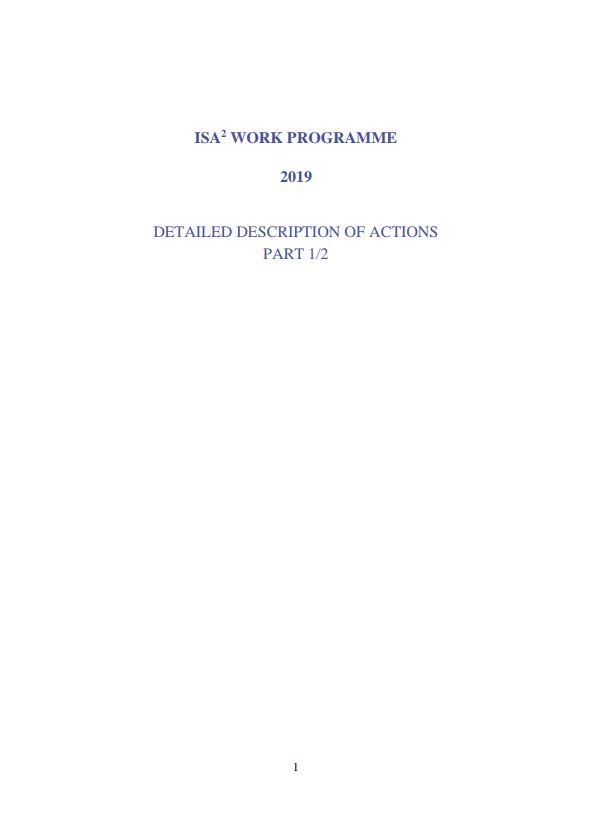 ISA² 2019 Work Programme - part 1