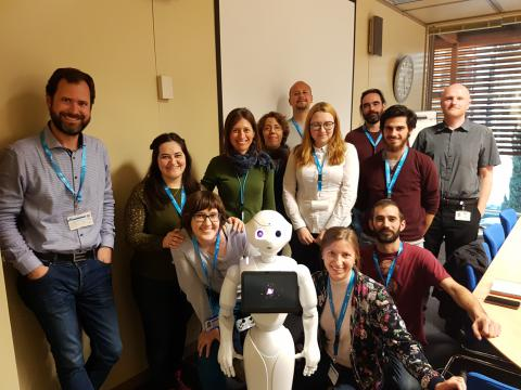 Human-Robot-Interaction group with Pepper