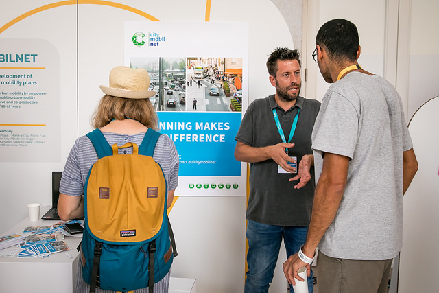 The CityMobilNet information stand at the URBACT City Festival in Lisbon, Portugal in 2018 ©URBACT (2018)