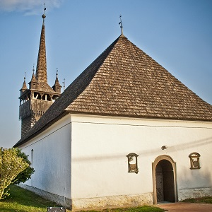 The Reformed Church of Tiszácsecse, Hungary, one of the local churches featured in the Transnational Church Route. ©Photo by László Guti