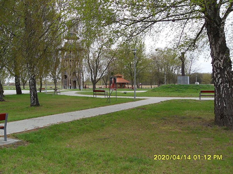 The redeveloped public park in Máriapócs. ©Máriapócs City Council/Zsolt Bagi (2019)