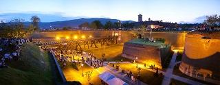 The historic Alba Carolina Citadel by night. The entrenchments were previously closed to the public. ©Alba Iulia Municipality