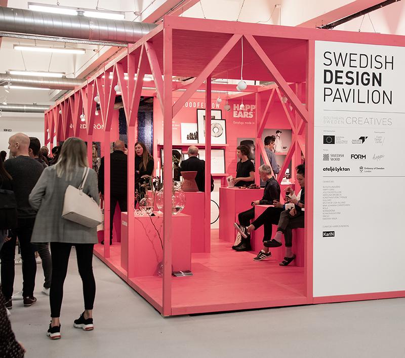 Southern Sweden Creatives in the Swedish Design Pavilion at the 2018 London Design Fair ©Invest in Skåne AB/Marina Jackler (2018)