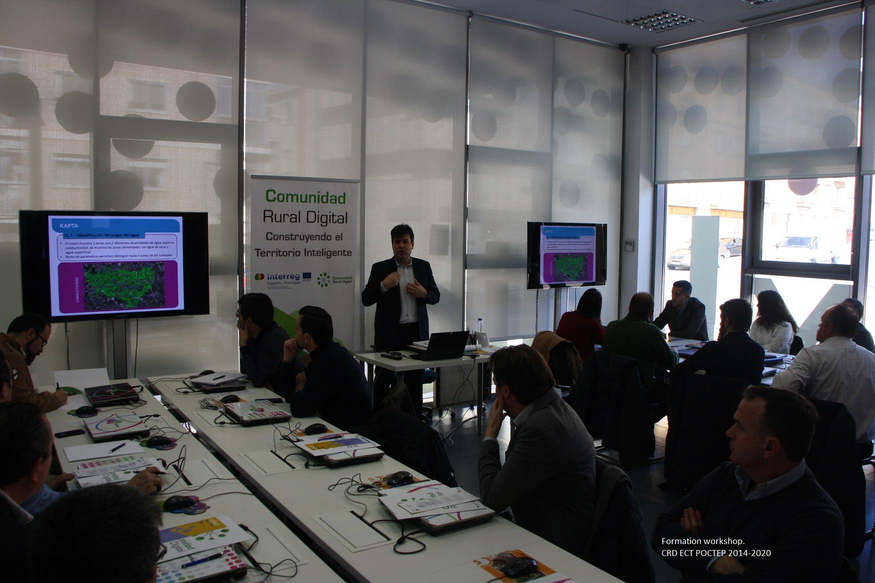 A workshop held as part of the Rural Digital Communities project. ©Dirección General de Telecomunicaciones y Transformación Digital-Consejería de Fomento y Medio Ambiente-Junta de Castilla y León