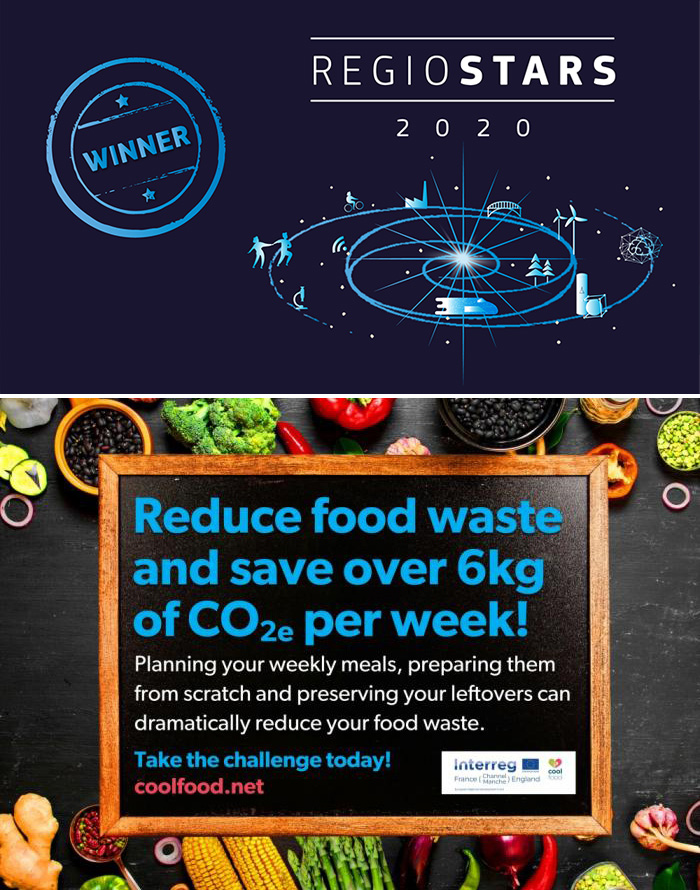 The Cool Food Challenge is an EU-funded initiative between the UK and France to encourage people to make sustainable food choices. ©Take the Cool Food Challenge