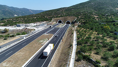 Tempi tunnels in operation ©Aegean Motorways