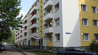 Sõpruse 202, a 162-unit building in Tallinn, was one of 600 apartment blocks renovated during the project.  ©Renovation Loan Programme