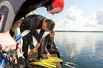 UNDINE II makes the fascinating underwater world of the Western Baltic Sea accessible ©UNDINE II