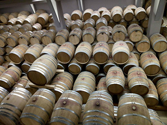 Wine barrels at a pilot agribusiness that forms part of the BalkanRoad project, in Greece ©Maria Doula
