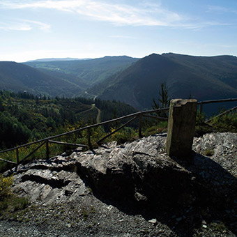Viewing point on the Primitive Way at A Fonsagrada, Spain ©Turismo de Galicia