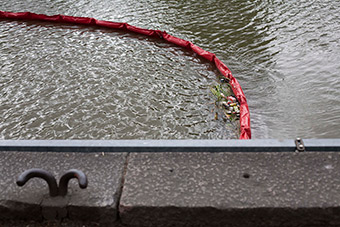 Litter trap in the Aura river in Turku, Finland ©Keep the Archipelago Tidy Association
