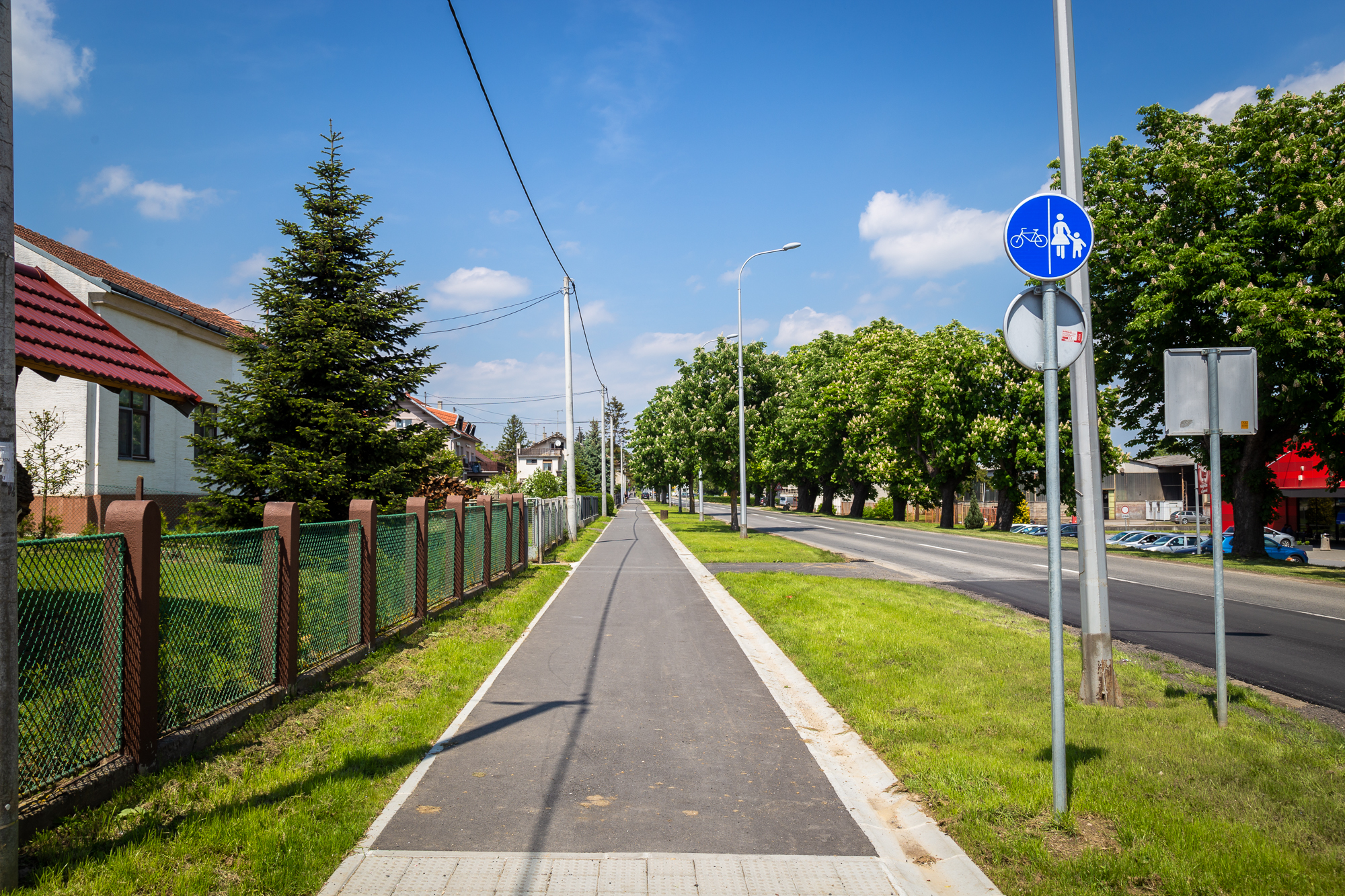 A cycling path in Križevci, Croatia, constructed as part of the Cyclo-Net project ©Dragutin Andrić, Križevci.hr