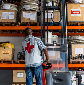 Management of disaster preparedness supplies in the Comoros. ©PIROI