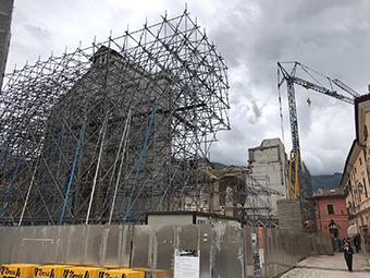 Rebuilding work at St. Benedict's Basilica, Norcia. ©Ministero per i beni e le attività culturali