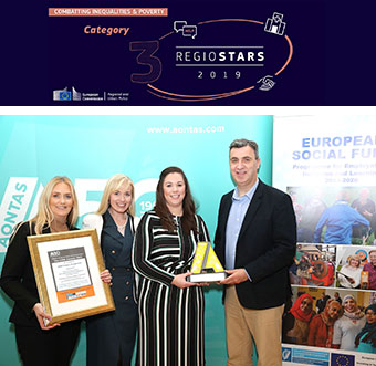 The WISE project won the National Adult Learning Organisation's The Star Awards 2019 first prize for adult learning initiatives that support sustainable employment – large organisations. ©WISE