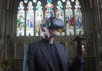 The Vista AR project is using augmented reality and virtual reality technologies to map how people move in, view and enjoy places like museums and cathedrals, with the aim of making them more attractive to visitors ©Vista AR