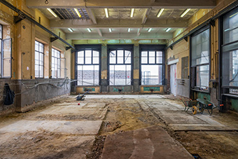 The non-profit organisation Zinneke is located in the former Atelier General du Timbre, in the Masui area of Brussels. ©Zinneke asbl, Delphine Mathy 2019