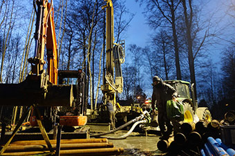 Drilling, pumping tests and characterisation of geothermal properties have been carried out at a series of sites in Brussels. ©Brugeo @SPRB 2018