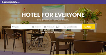 The internet home page of Bookingbility ©Bookingbility Srls