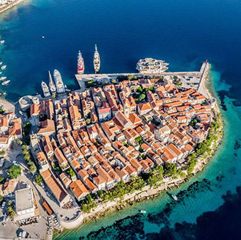 The Croatian fortified town of Korčula, which is being revitalised with EU funding. ©Martonio Paleka