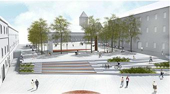 Visualisation of Vatroslav Lisinski Square. ©Grad Osijek, TIM Studio d.o.o