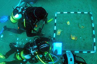 An underwater archaeological training programme organised in Lanzarote in October 2018. ©Cabildo de Lanzarote/Rita Marrero 2018