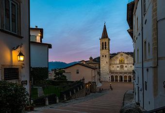 New public lighting in Spoleto's historic centre. ©Regione Umbria Servizio Comunicazione istituzionale e social media/Giovanni Tarpani. (2019)