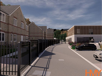 The Harmonia Village for dementia being developed in Dover, in the UK. ©CASCADE