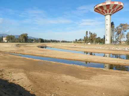 The Rio San Girolamo after transformation of the riverbed ©Assessorato dei Lavori Pubblici - Regione Autonoma della Sardegna (2017)