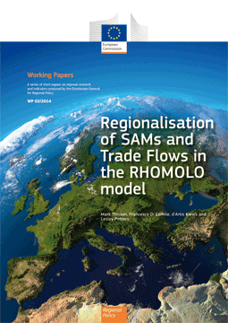 New Working paper: Regionalisation of SAMs and Trade Flows in the RHOMOLO model